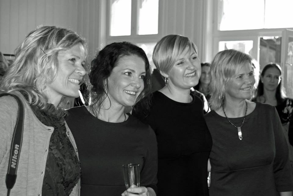 From left; Marianne Bakke - designed our dresses. Me, Kari Anne Marstein and Hanne jørgensen