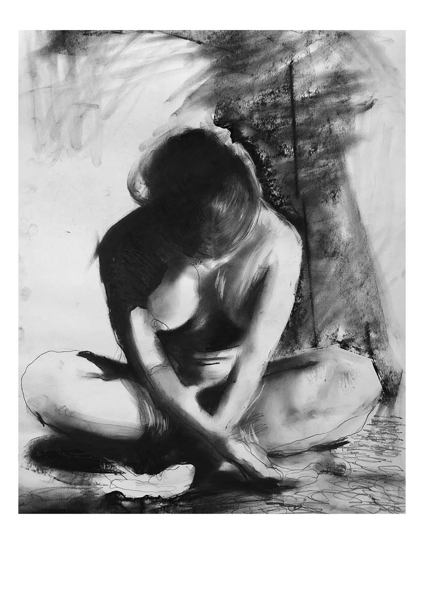 """On the dark side"" Charcoal drawing by Anna Bülow 2018 www.annabulow.com"